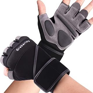 Pair Of 2-Gold Star Weight Lifting Gym Gloves for Workout