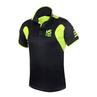 Black & Florescent Polyester T-Shirt