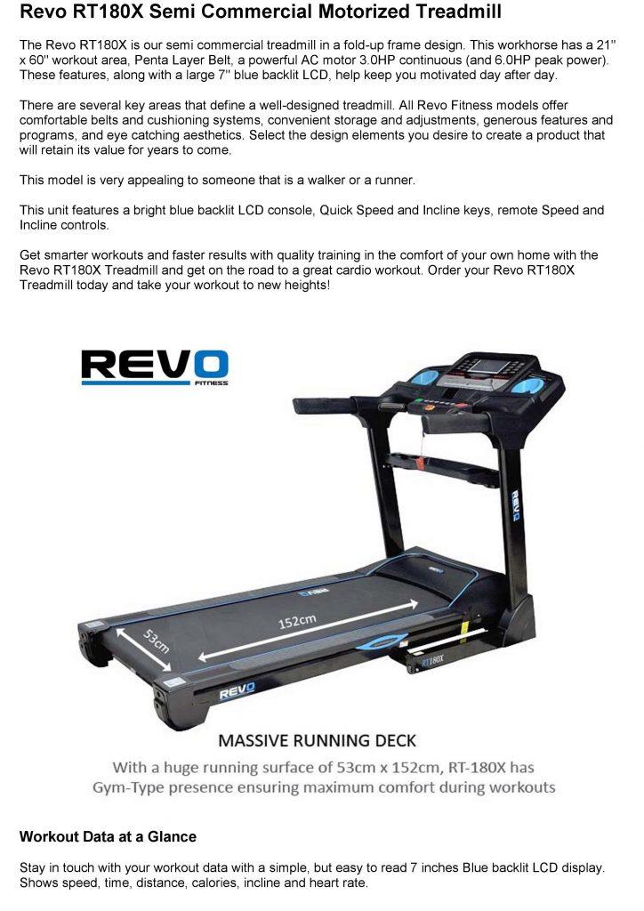 Revo RT180X Treadmill