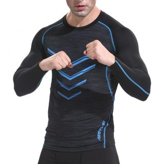 MoonSister Men's Sports Long Sleeved Fashion Printing Fitness