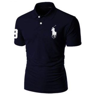 Trendy New Style Navy Blue Polo Sports T-Shirt For Men