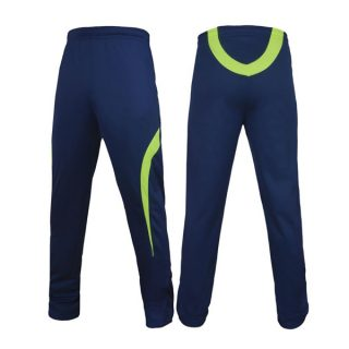 Blue Polyester Sports Trouser For Men