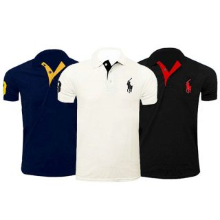 Polo T-Shirts Casual Collar Half Sleeve Polo Tee