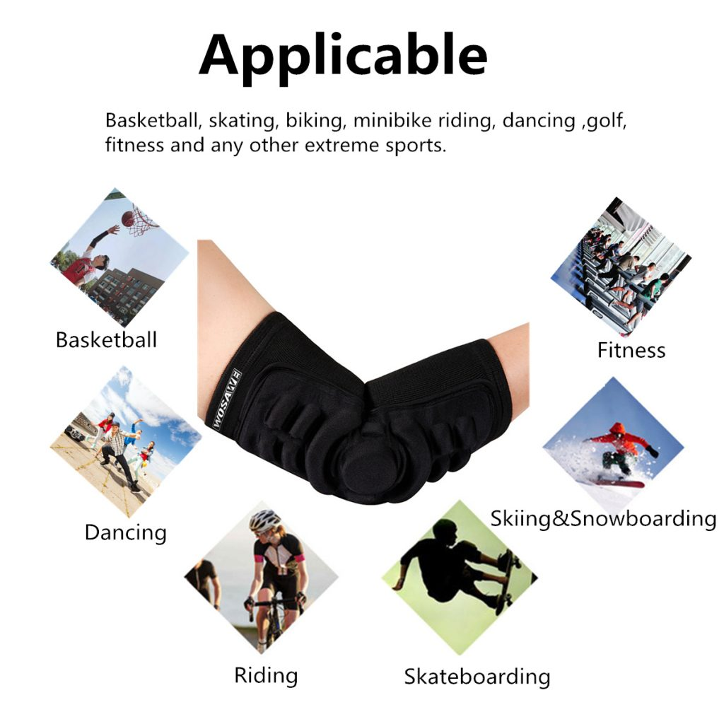 Sport Elbow Pads Protector Brace Support Guards Arm Guard