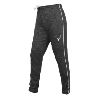 Black Cotton Lycra Sports Nero Trouser