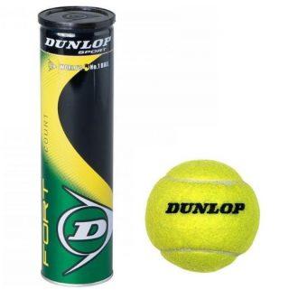 Dunlop Set of 3 - Tennis Balls - Green