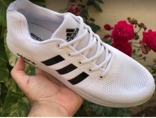 Adidas Cool White Color Imported Running Shoes