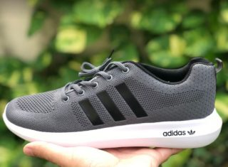 Adidas Lite Racer Gray Color Running Shoes