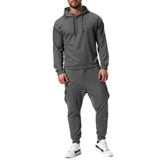 Workout Sportswear Tracksuit For Mens Top + Bottom