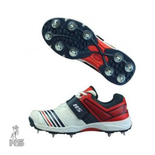 HS-45-Spikes-Cricket-Shoes-Red