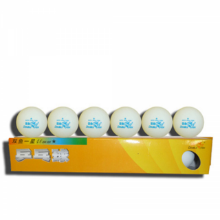 Double Fish B201F Table Tennis Plastic Balls (6 Pack)